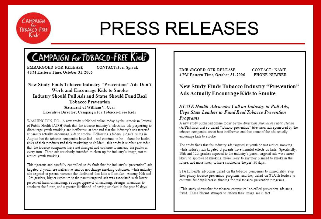 PRESS RELEASES EMBARGOED FOR RELEASE CONTACT:Joel Spivak. 4 PM Eastern Time, October 31, 2006.