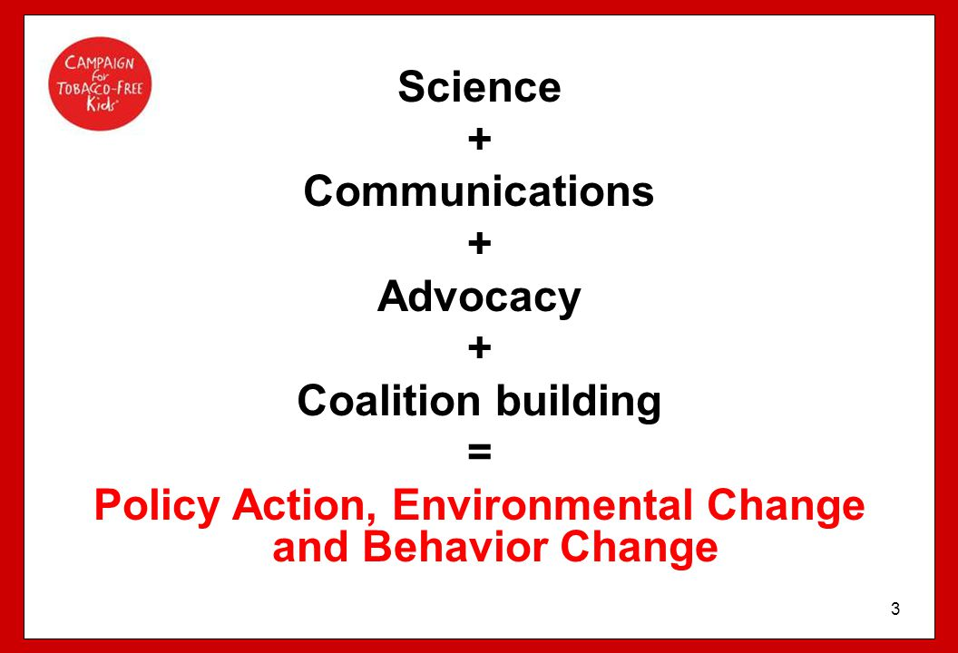 Policy Action, Environmental Change and Behavior Change