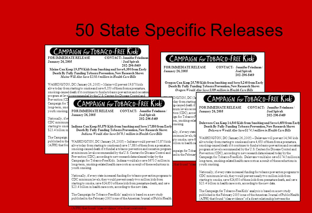 50 State Specific Releases