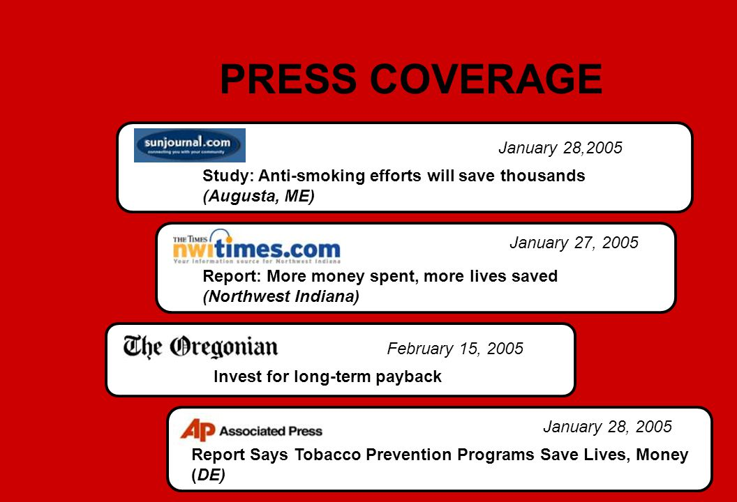 PRESS COVERAGE January 28,2005