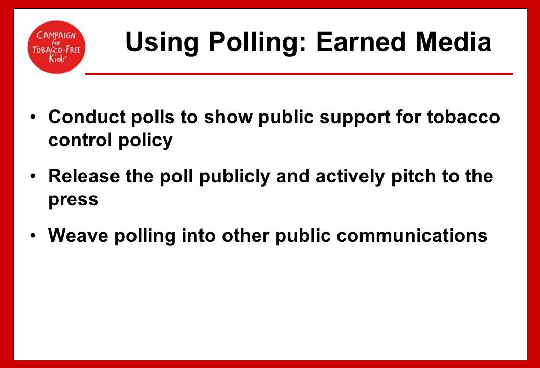 Using Polling: Earned Media