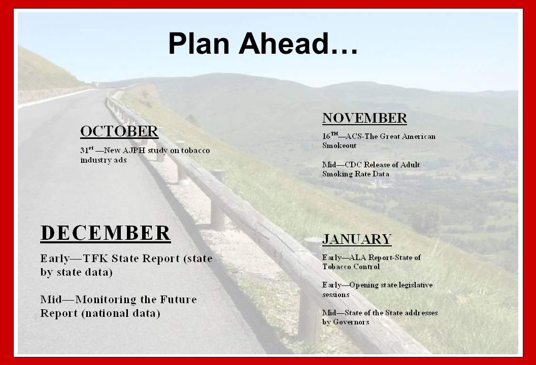 Plan Ahead…