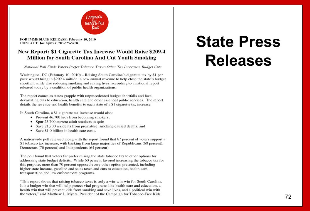 State Press Releases