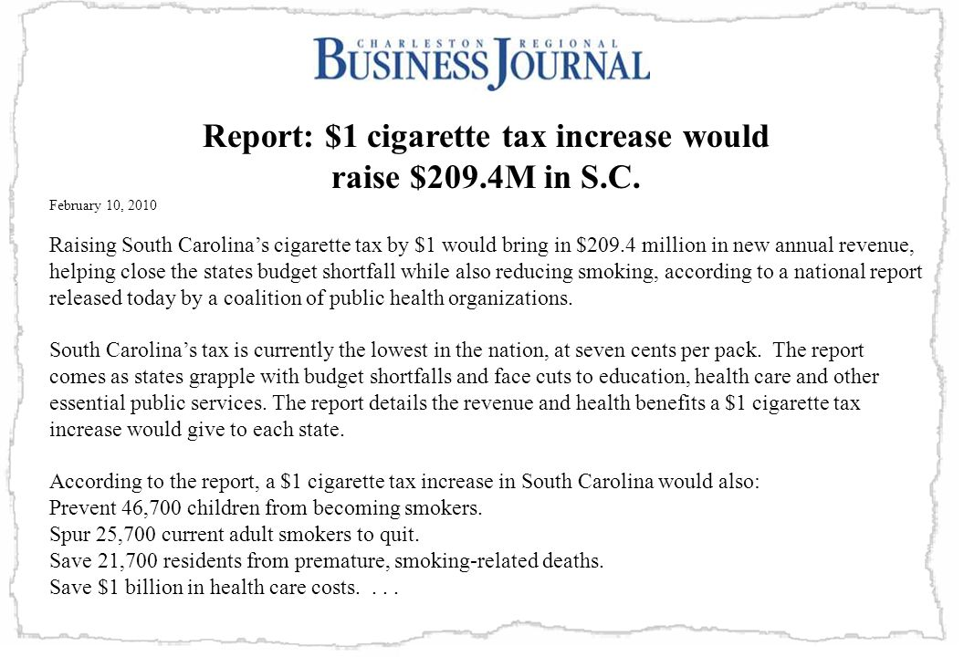 Report: $1 cigarette tax increase would