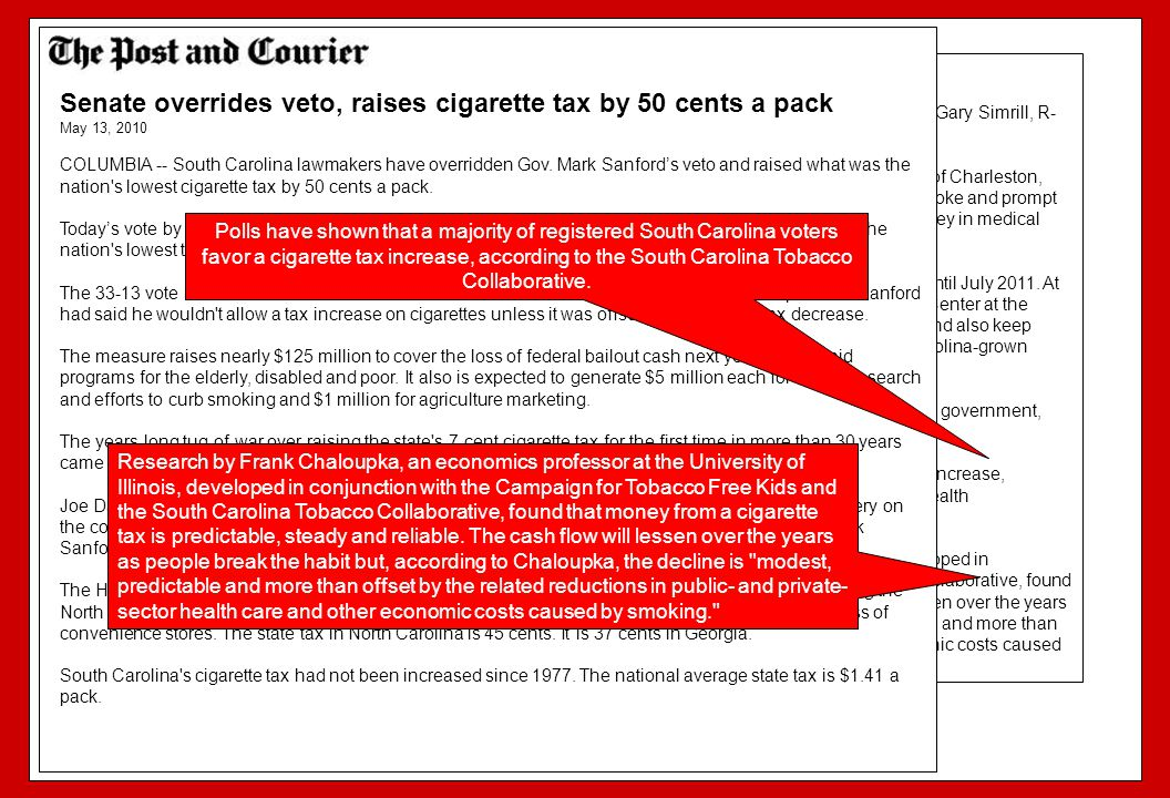 Senate overrides veto, raises cigarette tax by 50 cents a pack