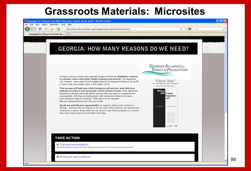 Grassroots Materials: Microsites