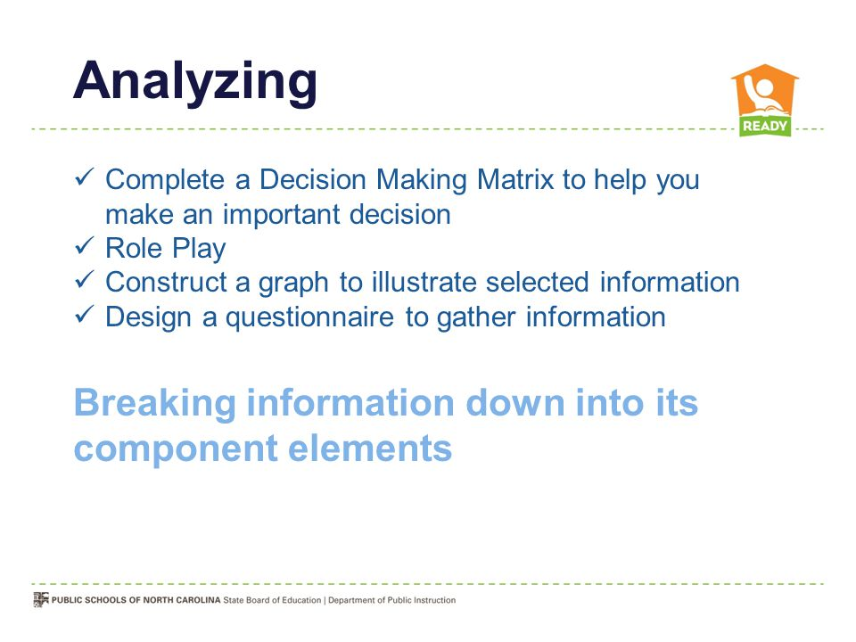 Analyzing Breaking information down into its component elements