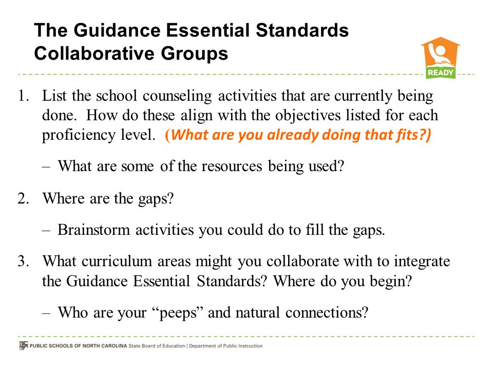 The Guidance Essential Standards Collaborative Groups