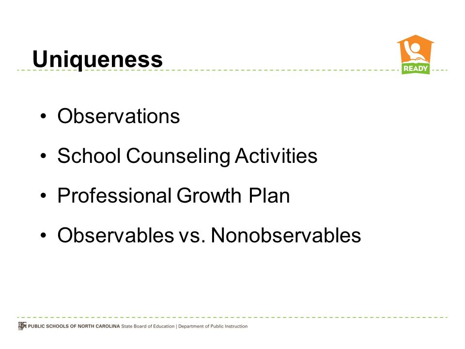 Uniqueness Observations School Counseling Activities