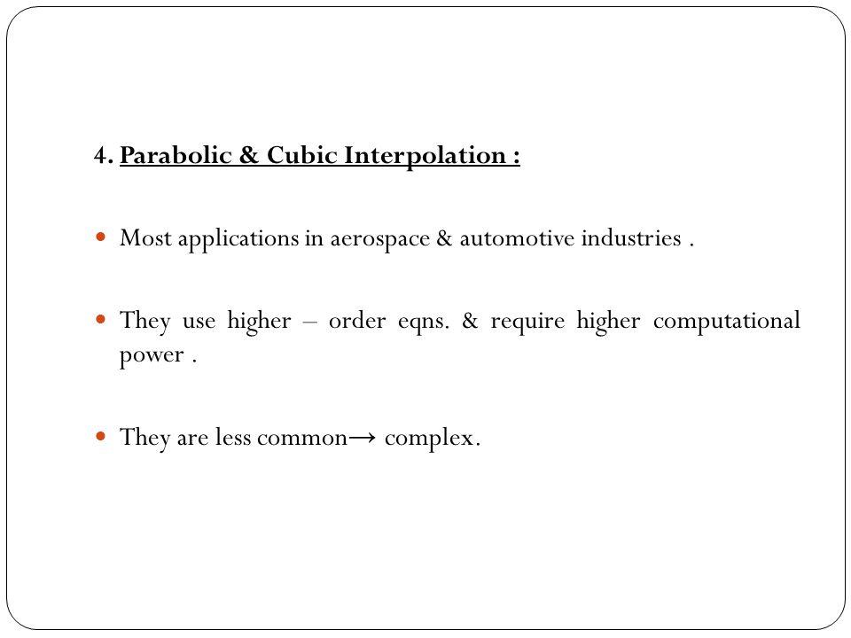 4. Parabolic & Cubic Interpolation :