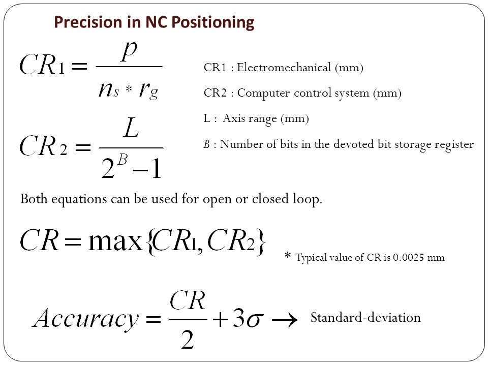 Precision in NC Positioning