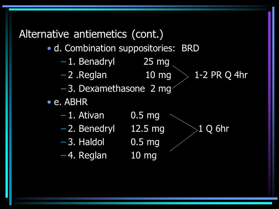 Alternative antiemetics (cont.)