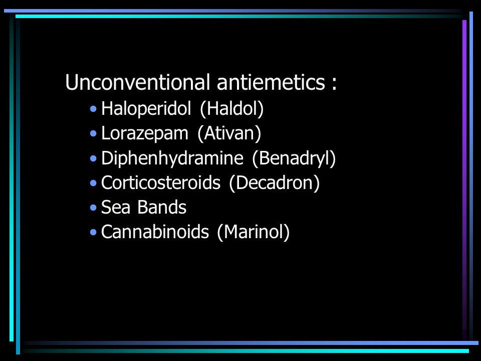 Unconventional antiemetics :