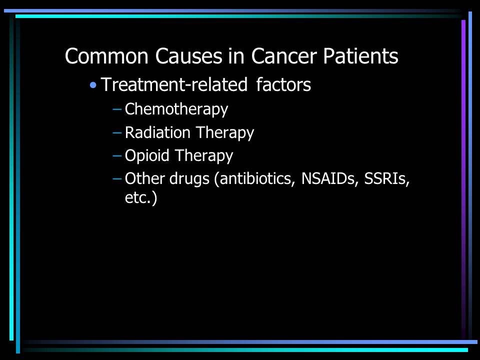 Common Causes in Cancer Patients