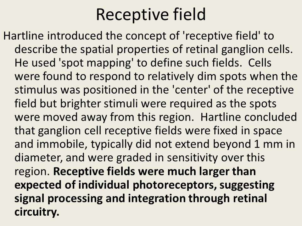 Receptive field