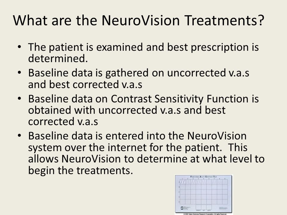 What are the NeuroVision Treatments
