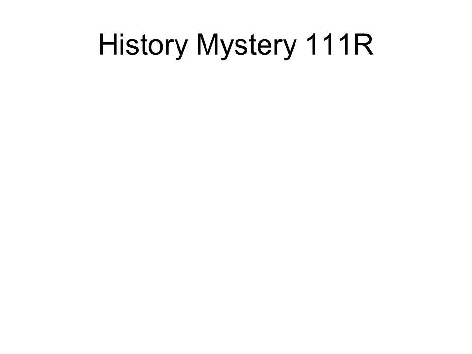 History Mystery 111R