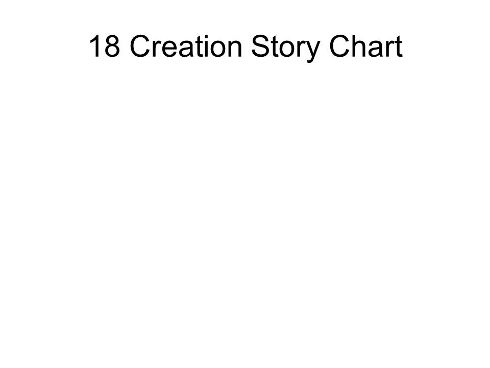 18 Creation Story Chart