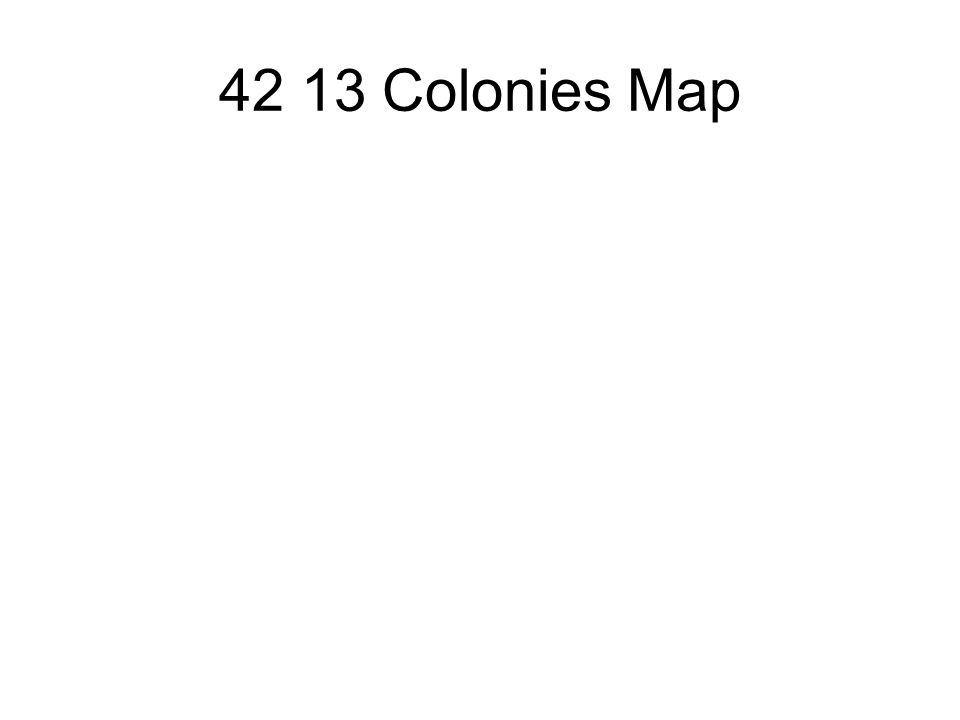 42 13 Colonies Map