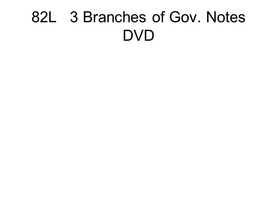 82L 3 Branches of Gov. Notes DVD