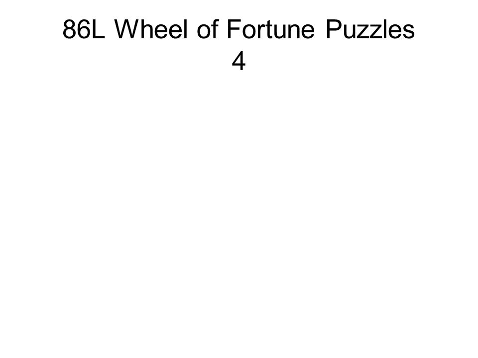 86L Wheel of Fortune Puzzles 4