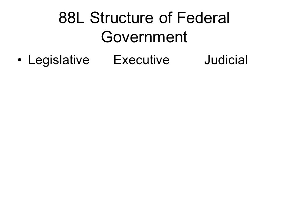 88L Structure of Federal Government