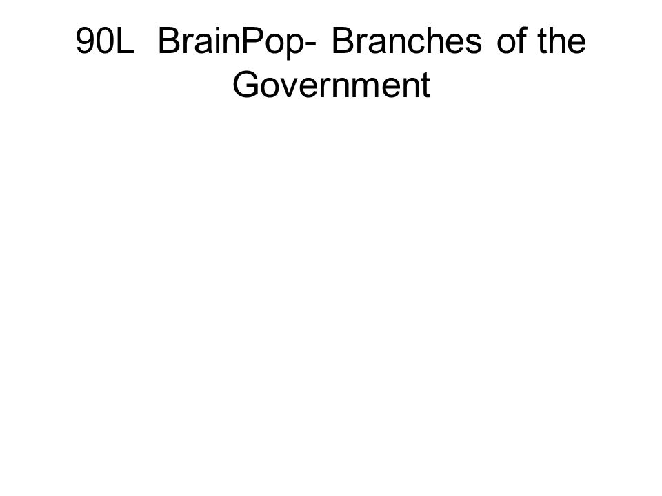 90L BrainPop- Branches of the Government