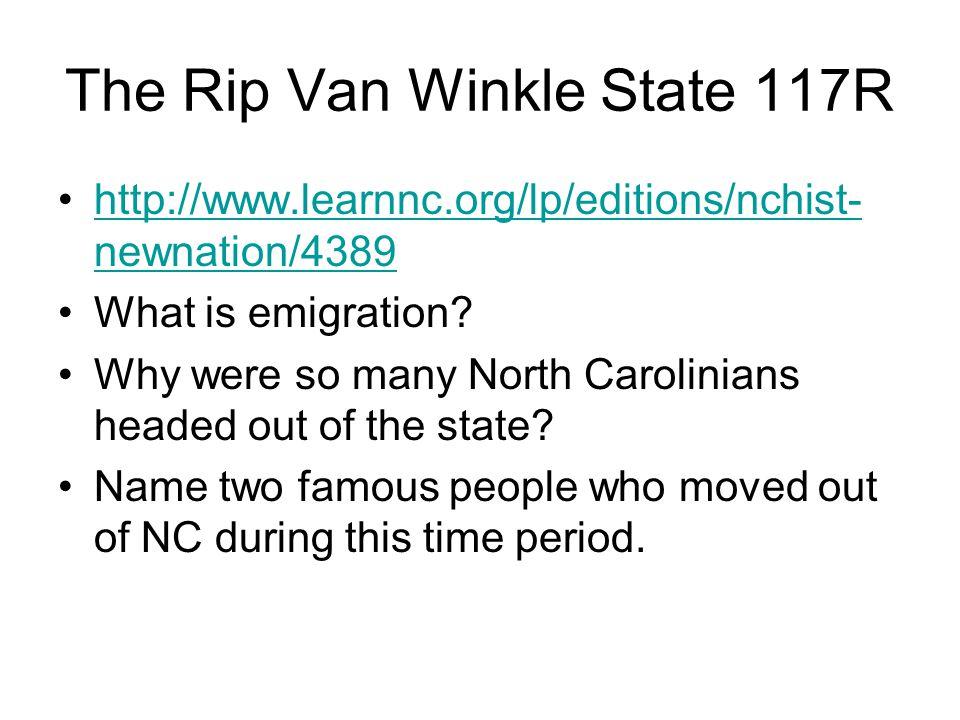The Rip Van Winkle State 117R