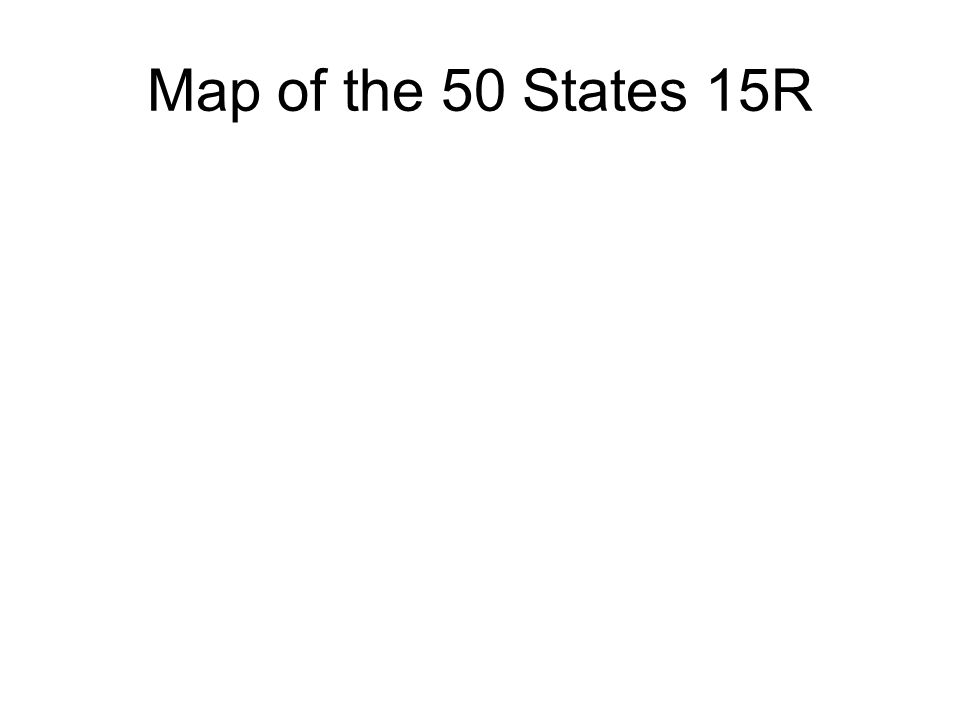 Map of the 50 States 15R