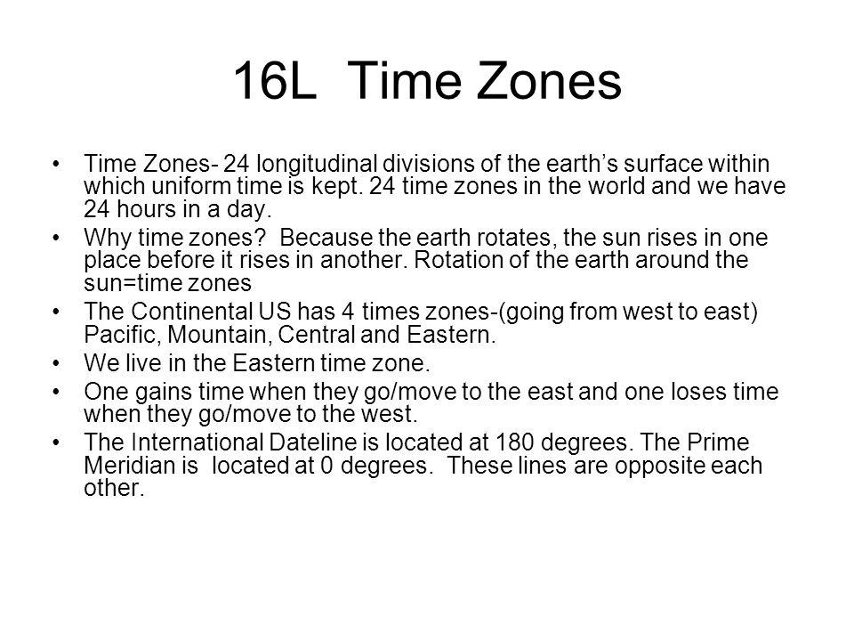 16L Time Zones