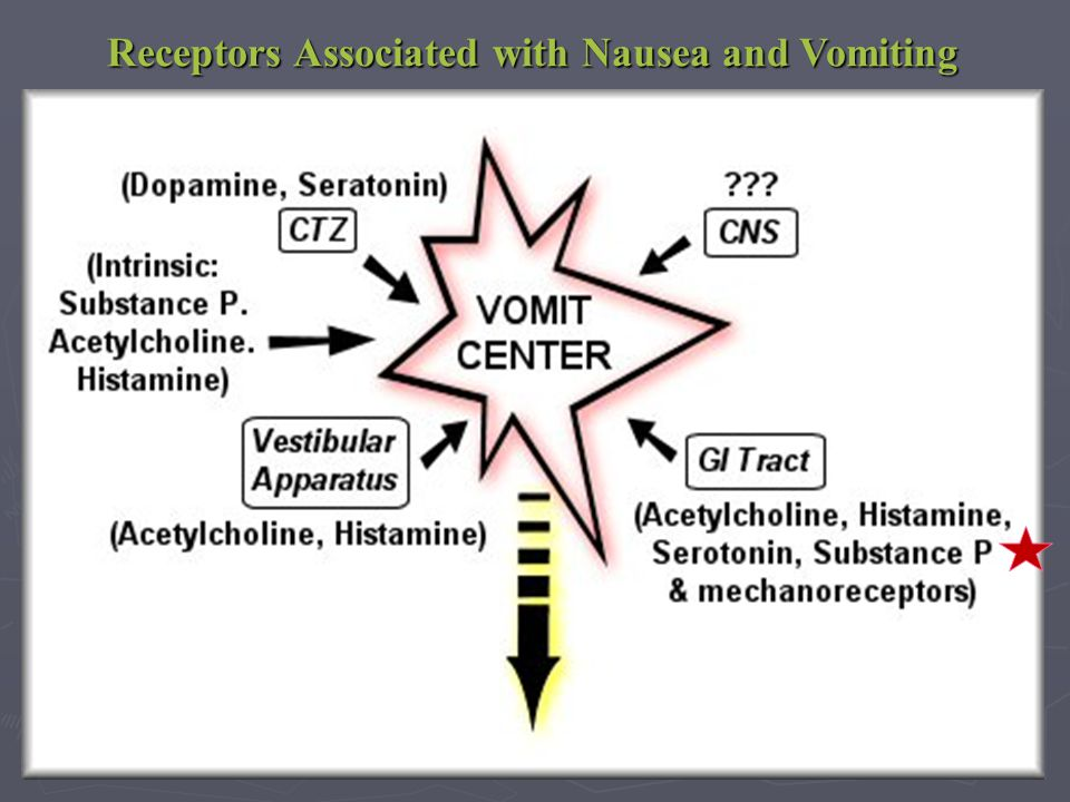 Receptors Associated with Nausea and Vomiting