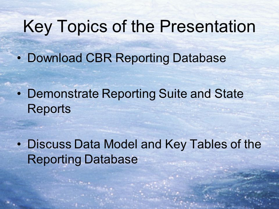 Key Topics of the Presentation