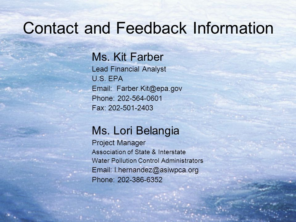 Contact and Feedback Information