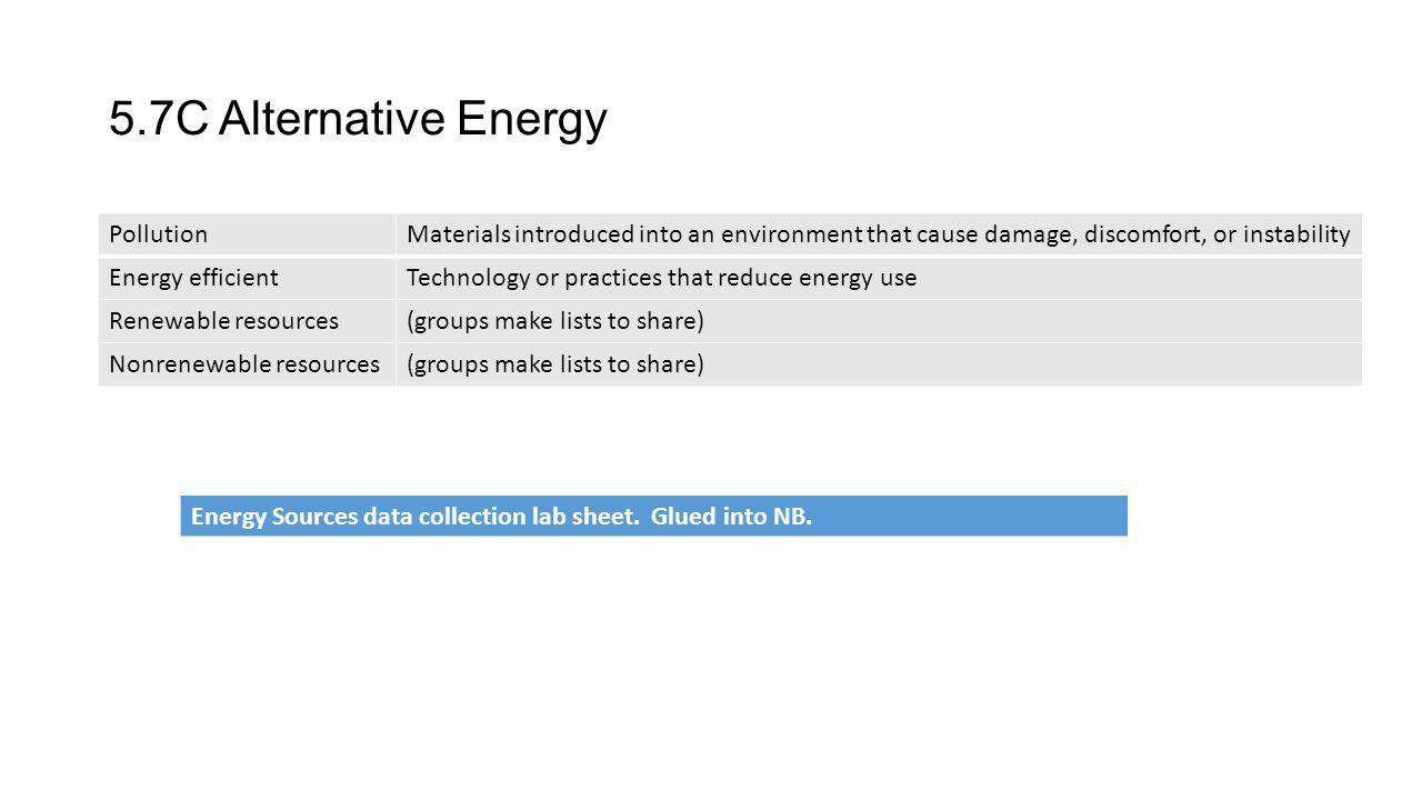 5.7C Alternative Energy Pollution