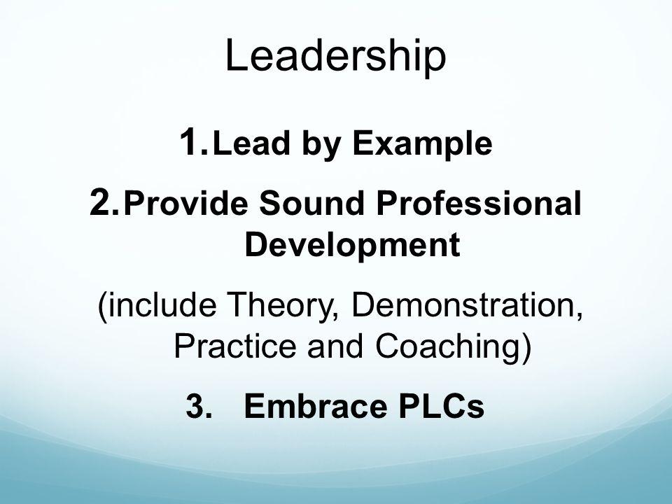 Provide Sound Professional Development