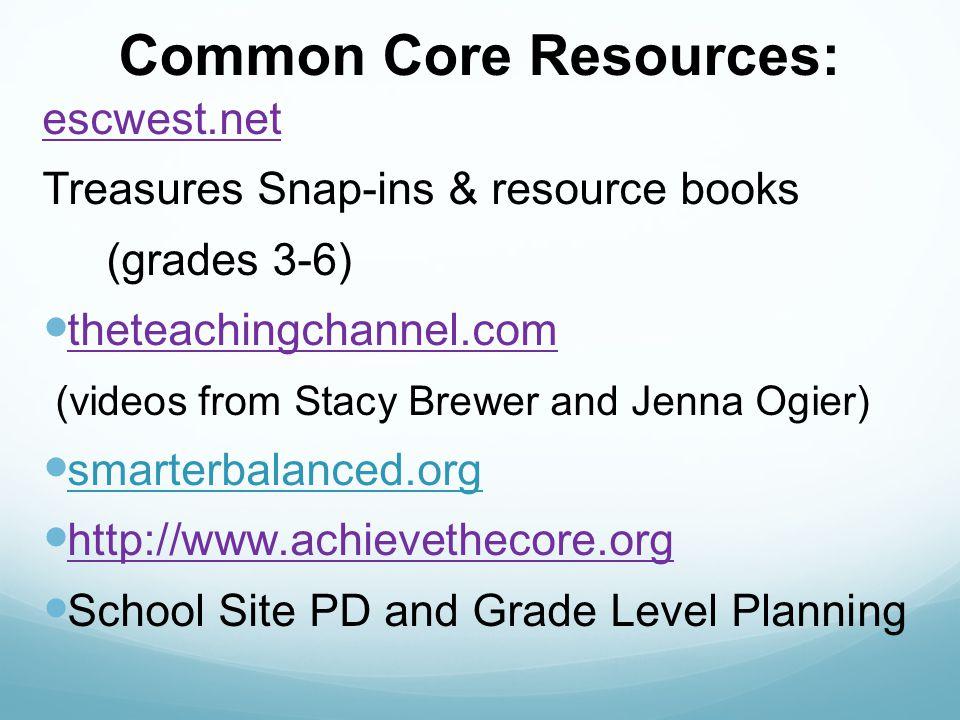 Common Core Resources: