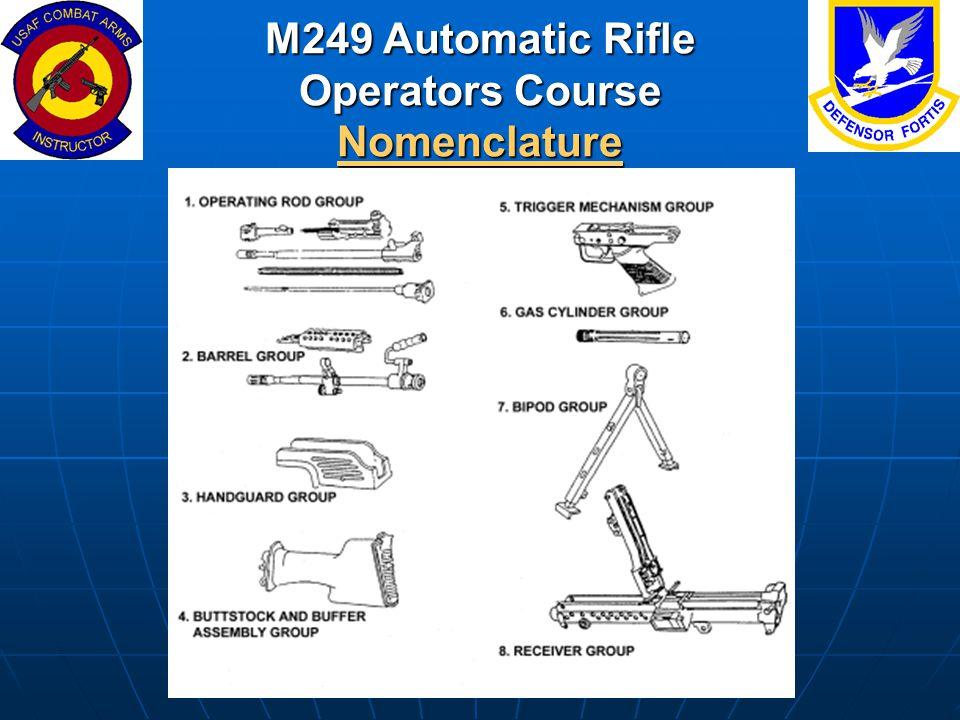 M249 Automatic Rifle Operators Course Nomenclature