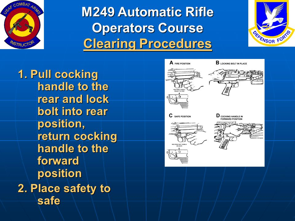 M249 Automatic Rifle Operators Course Clearing Procedures