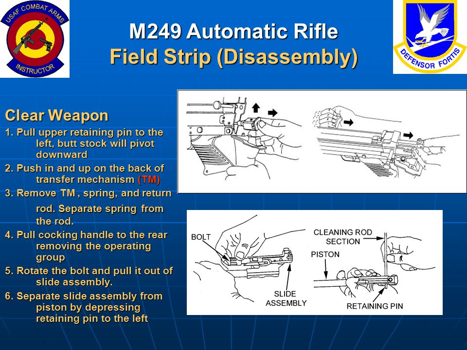 M249 Automatic Rifle Field Strip (Disassembly)