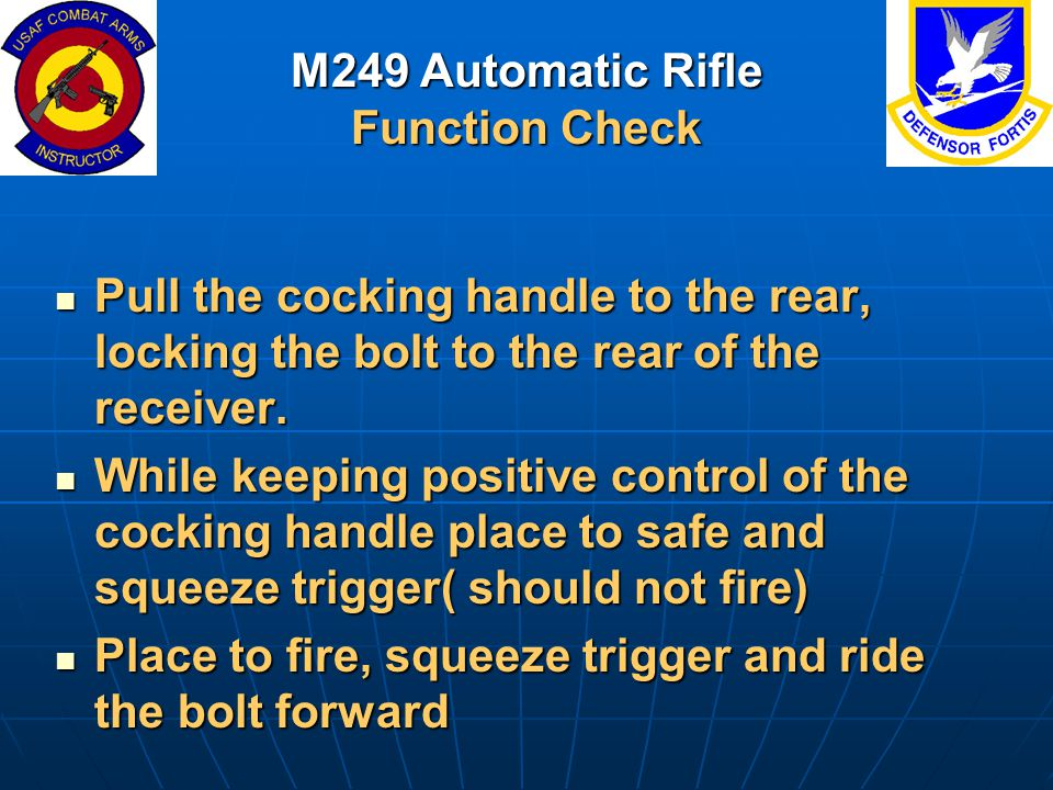 M249 Automatic Rifle Function Check