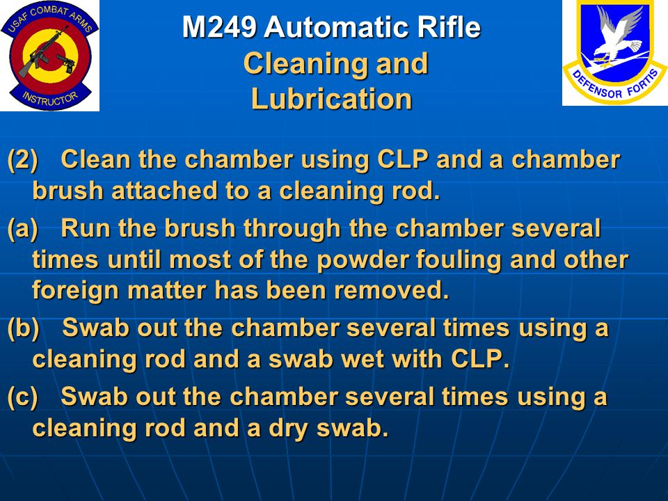 M249 Automatic Rifle Cleaning and Lubrication