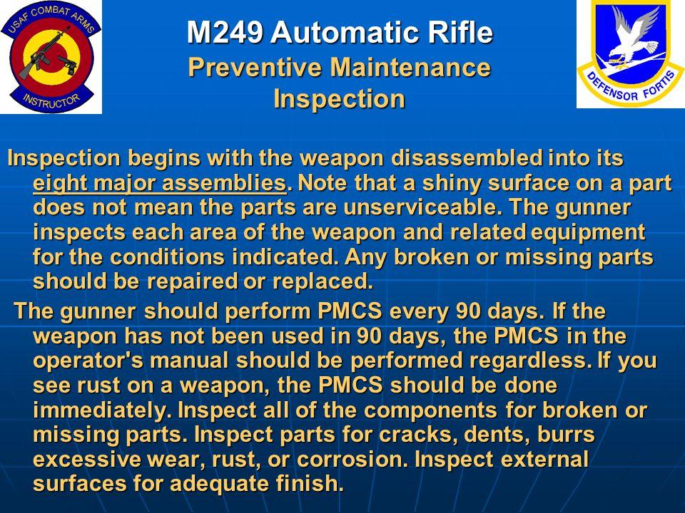 M249 Automatic Rifle Preventive Maintenance Inspection