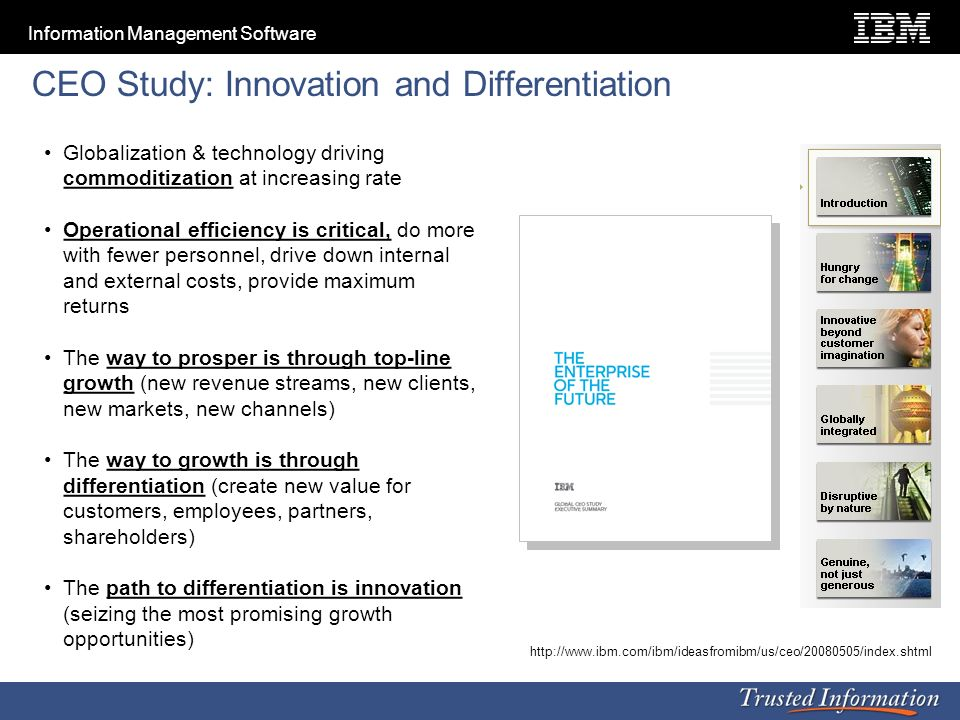 CEO Study: Innovation and Differentiation
