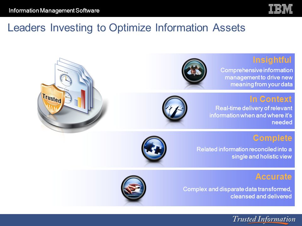 Leaders Investing to Optimize Information Assets