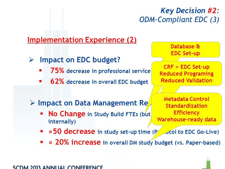 Key Decision #2: ODM-Compliant EDC (3)