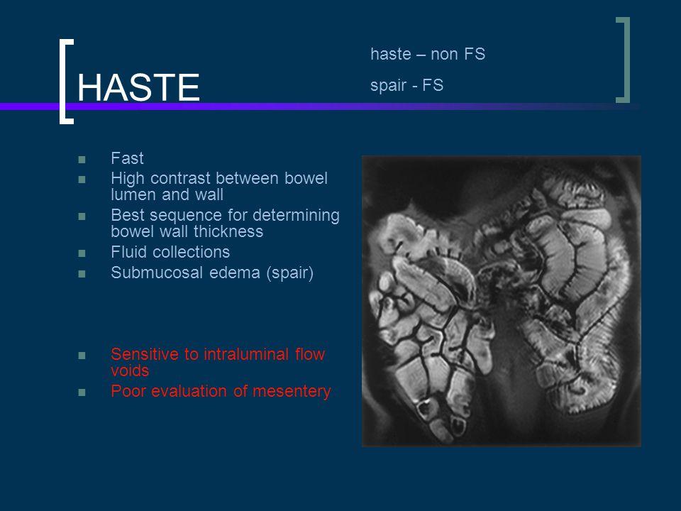 HASTE haste – non FS spair - FS Fast