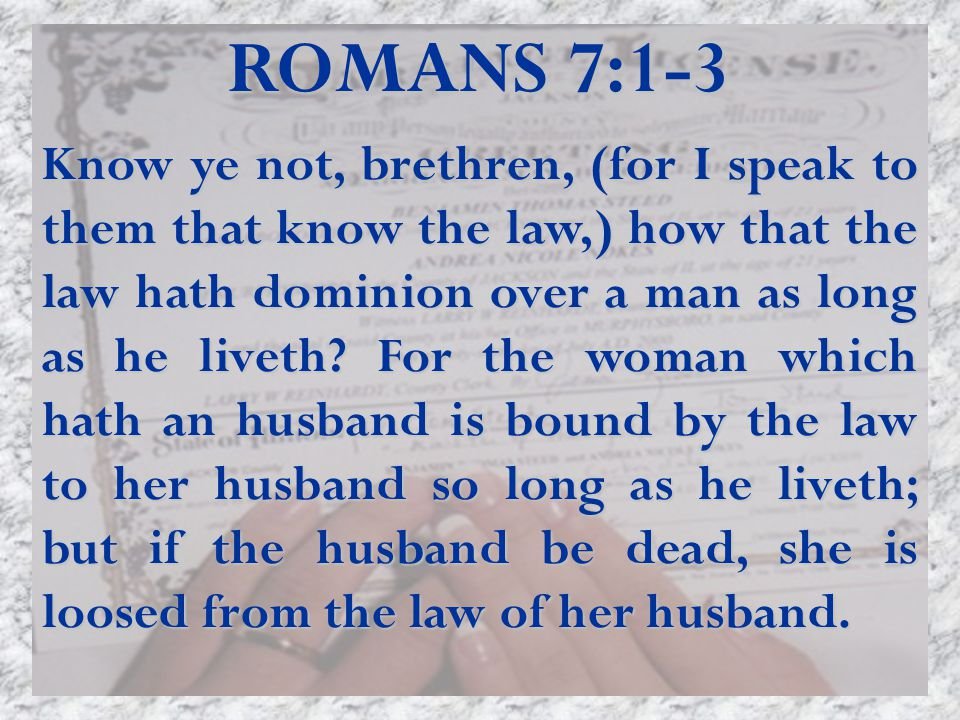 ROMANS 7:1-3