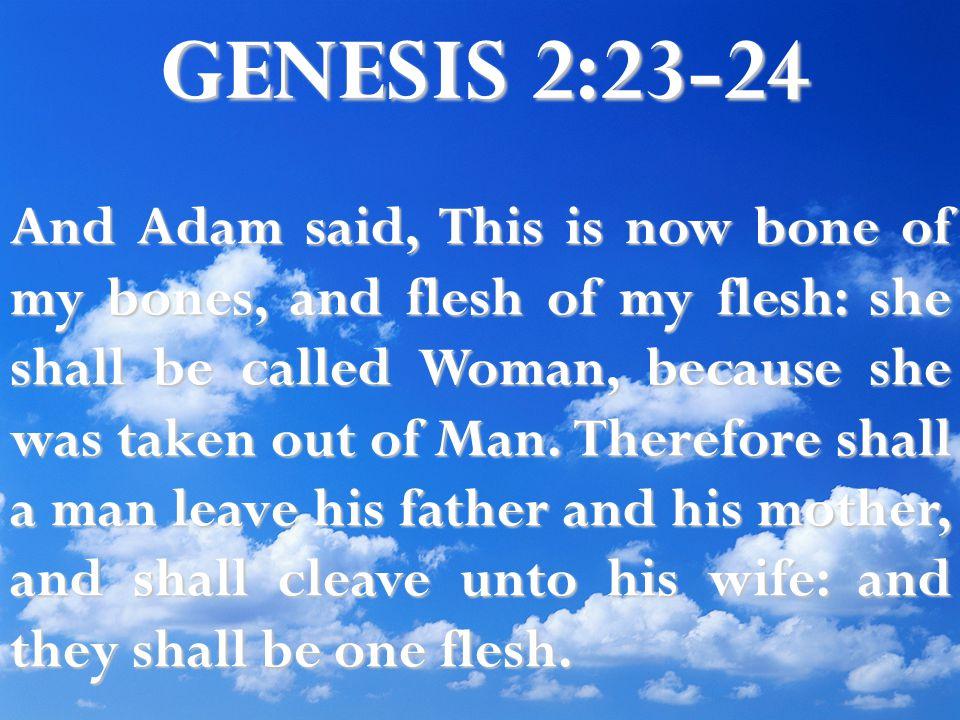 GENESIS 2:23-24