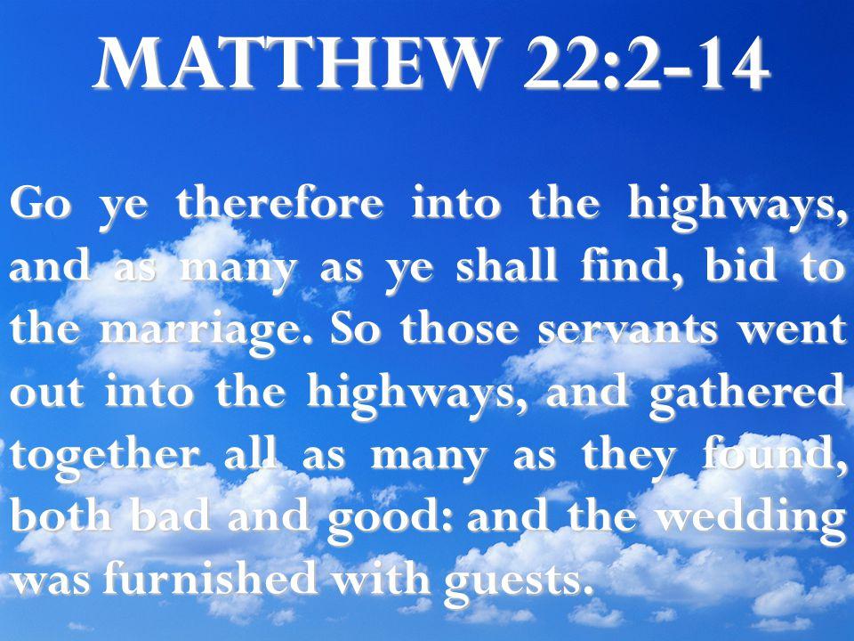 MATTHEW 22:2-14