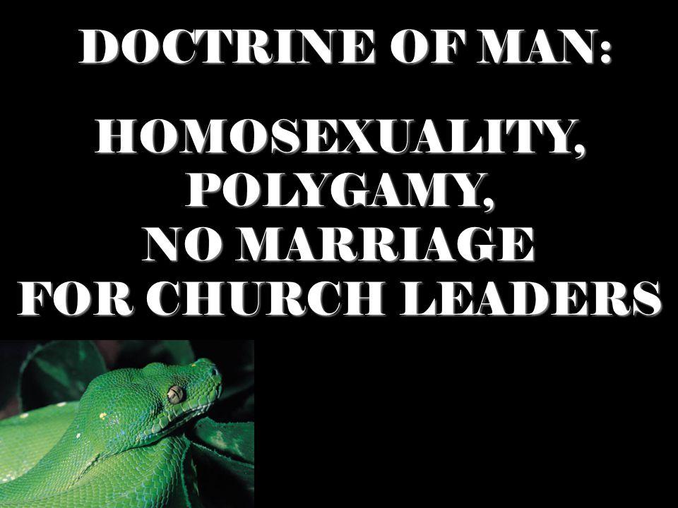 HOMOSEXUALITY, POLYGAMY,